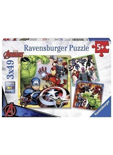 Ravensburger 3x49 Parça Puzzle  080403 Renkli